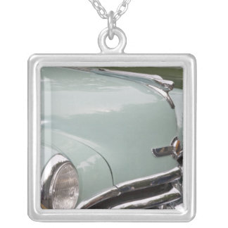 WA, Seattle, classic American automobile. 3 Silver Plated Necklace