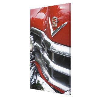 WA, Seattle, classic American automobile. 4 Gallery Wrapped Canvas