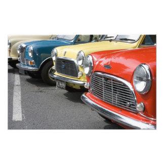 WA, Seattle, classic British automobile. Art Photo