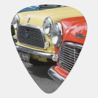 WA, Seattle, classic British automobile. Guitar Pick