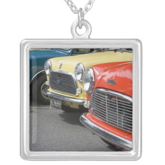 WA, Seattle, classic British automobile. Silver Plated Necklace