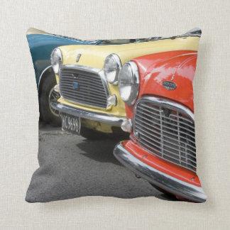 WA, Seattle, classic British automobile. Throw Pillow