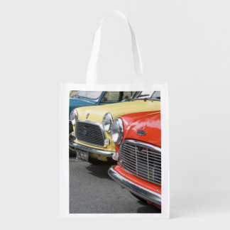 WA, Seattle, classic British automobile. Grocery Bag