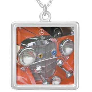 WA, Seattle, classic German automobile. Silver Plated Necklace