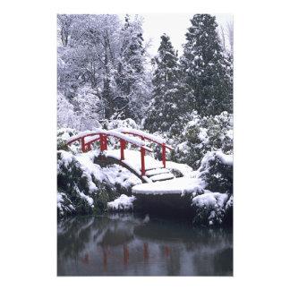 WA, Seattle, Moon bridge and pond after winter 2 Photo Art