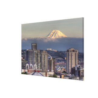 WA, Seattle, Mount Rainier from Kerry Park Canvas Print