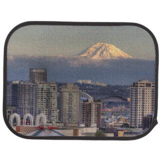 WA, Seattle, Mount Rainier from Kerry Park Car Mat