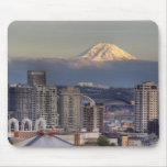 WA, Seattle, Mount Rainier from Kerry Park Mousepad