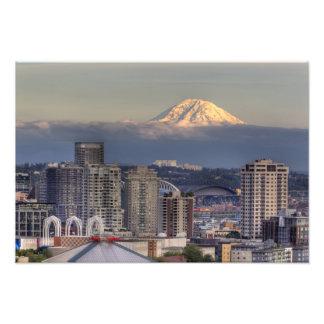 WA, Seattle, Mount Rainier from Kerry Park Photo Art