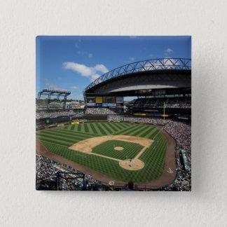 WA, Seattle, Safeco Field, Mariners baseball 15 Cm Square Badge
