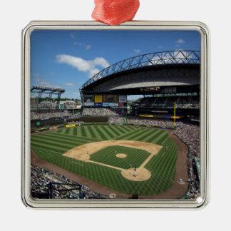 WA, Seattle, Safeco Field, Mariners baseball Silver-Colored Square Decoration
