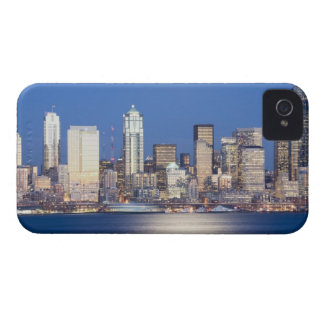WA, Seattle, Seattle skyline and Elliott Bay, 2 iPhone 4 Case-Mate Cases