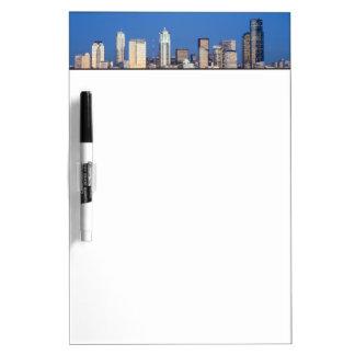 WA, Seattle, Seattle skyline and Elliott Bay 3 Dry Erase Board