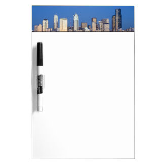 WA, Seattle, Seattle skyline and Elliott Bay 3 Dry-Erase Boards