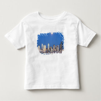 WA, Seattle, Seattle skyline and Elliott Bay 3 Toddler T-Shirt