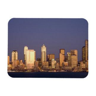 WA, Seattle, Seattle skyline and Elliott Bay, Magnet