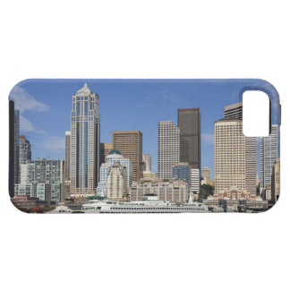 WA, Seattle, Seattle skyline with ferry boat Tough iPhone 5 Case