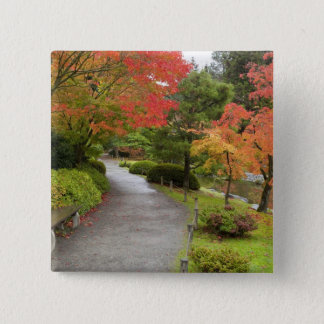 WA, Seattle, Washington Park Arboretum, 2 15 Cm Square Badge