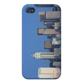 WA, Sele, Seattle skyline and Elliott Bay 2 iPhone 4 Case