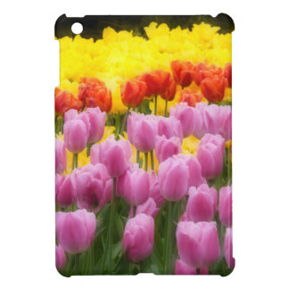 WA, Skagit Valley, Roozengaarde Tulip Garden, 2 iPad Mini Cover