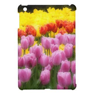 WA, Skagit Valley, Roozengaarde Tulip Garden, 2 iPad Mini Covers