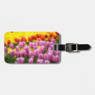 WA, Skagit Valley, Roozengaarde Tulip Garden, 2 Luggage Tag