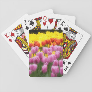 WA, Skagit Valley, Roozengaarde Tulip Garden, 2 Playing Cards