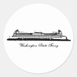 WA State Ferry Round Sticker