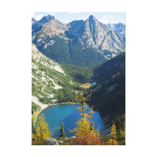 WA, Wenatchee National Forest, Lake Ann Canvas Print