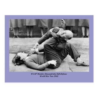 WAAF Demonstrate Self-Defense 2 Postcard