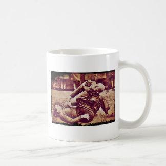 WAAF Demonstrates Self-Defense WWII Basic White Mug