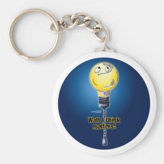 Waat I think Matters keychain
