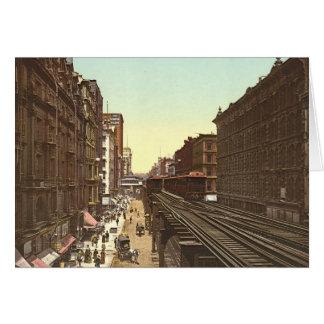 Wabash Avenue Chicago 1900 Card