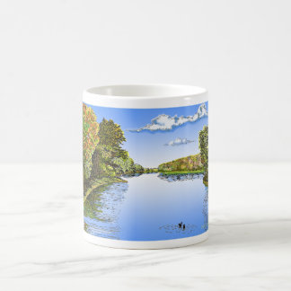 Wabash River Basic White Mug