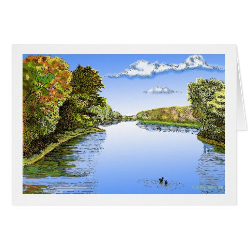 Wabash River Greeting Cards