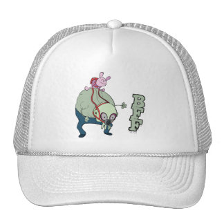 wabby riding gnarl  bff monsters trucker hat