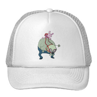 wabby riding gnarl  monsters trucker hat