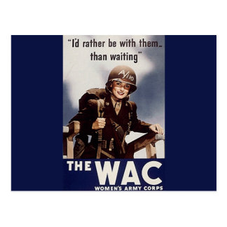 WAC Recruiting Poster Post Card