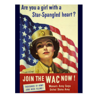 WAC recruiting Poster Postcard