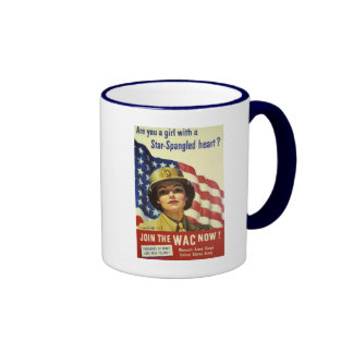 WAC recruiting Poster Ringer Mug