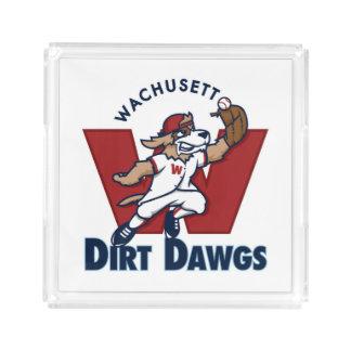 Wachusett Dirt Dawgs Collegiate Baseball Team Logo Acrylic Tray