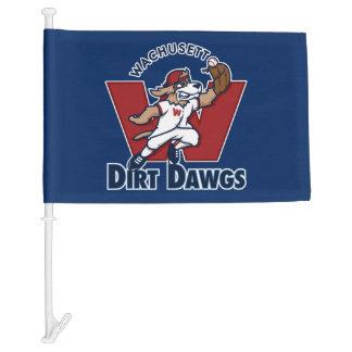 Wachusett Dirt Dawgs Collegiate Baseball Team Logo Car Flag