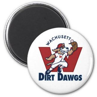 Wachusett Dirt Dawgs Collegiate Baseball Team Logo Magnet