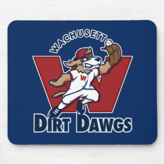 Wachusett Dirt Dawgs Collegiate Baseball Team Logo Mousepad