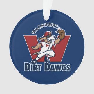 Wachusett Dirt Dawgs Collegiate Baseball Team Logo Ornament