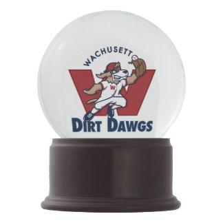 Wachusett Dirt Dawgs Collegiate Baseball Team Logo Snow Globe