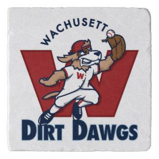 Wachusett Dirt Dawgs Collegiate Baseball Team Logo Trivets