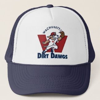 Wachusett Dirt Dawgs Collegiate Baseball Team Logo Trucker Hat