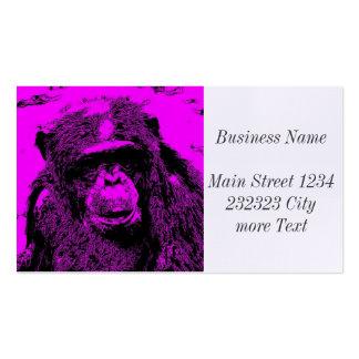 wacky art - chimp pink (C) Pack Of Standard Business Cards