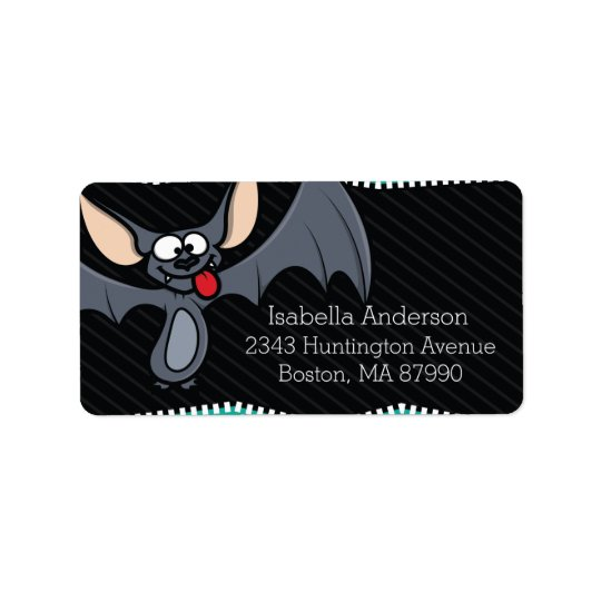 Wacky Bat Halloween Return Address Label